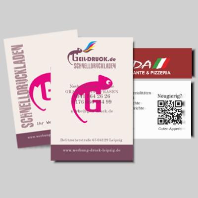 Schnelldruckladen Werbetechnik Flyer Visitenkarten T